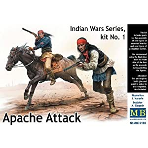 Master Box mb35188Figuras Apache Attack, Indian Wars Series, Kit No. 1, Parte