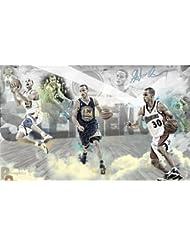 Stephen Curry Poster On Silk <99cm x 60cm, 40inch x 24inch> - Cartel de Seda - 75ECA9
