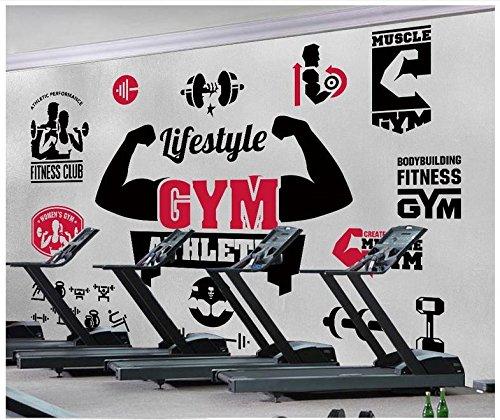 HHCYY 3D Wandbilder Tapeten Für Wände Gym Mural Benutzerdefinierte Handgemalte Vertraglich Gym Hintergrund Wand Papier Dekoration-450cmx300cm