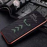 mobbysol® Dot View Sensor Case Series - Matrix Mesh Designed Interactive Sensor Flip Folio Smart Cover Case for HTC Desire 728 / 728G Dual Sim / D728 - Black