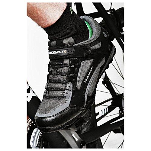 Muddyfox Tour 100 Low Herren Radschuhe Fahrradschuhe Radsportschuhe Sport Schuhe Black/Charcoal 10.5(44.5) - 3
