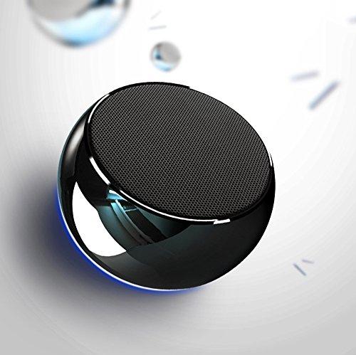 Jbl-akustik-sound Bluetooth (Mr. Fragile Überzug Bluetooth Mini Lautsprecher Handy Wireless Bluetooth Lautsprecher Auto Subwoofer (Silber),Black)