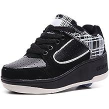 HUSK'SWARE Unisex-niños Zapatos con Automática Ruedas Zapatillas de Skate Roller Shoes Sneakers Mujer Hombre