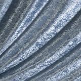 Pannesamt Stoff Meterware Eis-Blau