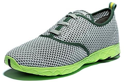 Viihahn Herren Atmungsaktives Mesh Lace-Up schnell trocknend Aqua Wasser Schuhe 43 EU Grau