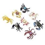 Caractéristiques:  Un ensemble de 8pcs jouets de crabes  Chaque crabe peut se tenir sur ses pieds avec sa posture typique, ce qui vous permet de le placer n'importe où pour la décoration  Parfait pour votre collection de zoo ou inspirer l'esprit et l...