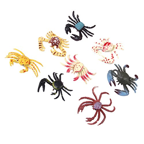 Preisvergleich Produktbild Kunststoff PVC Krabben Modell Kinder Spielzeug 8 Stück Multi Color