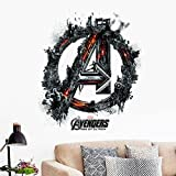 GADGETS WRAP The Super Hero Figures Avengers Wall Stickers For Kids Rooms Home Decor Boy's Room Wall Decals Stickers