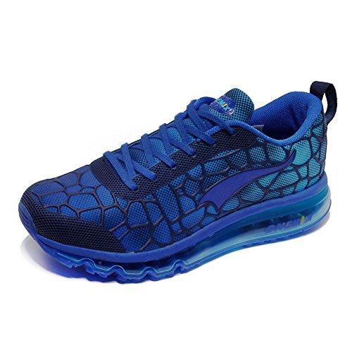 Onemix Uomo Donna Air Sneakers Fitness Scarpe da Corsa Unisex Adulto Scarpe da Running Luna Blu