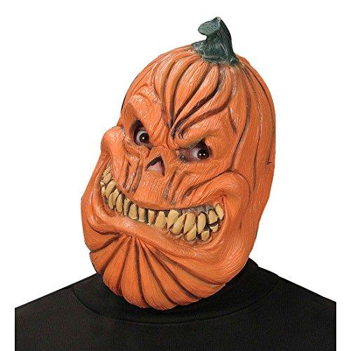 Kürbis Horrormaske Monster Maske Grusel Kürbismaske Kürbiskopf Monstermaske Latex Halloween Fantasy Horror Pumpkin Halloweenmaske Gruselige Faschingsmaske Karneval Kostüm (Kürbiskopf Maske)