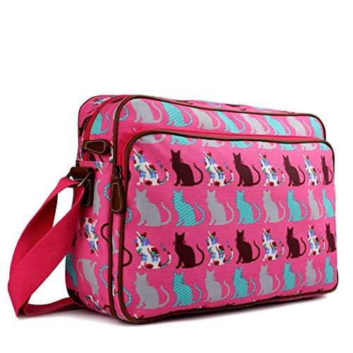 miss-lulu-matte-finish-oilcloth-cat-dog-galaxy-universe-satchel-messenger-bag-cat-pink