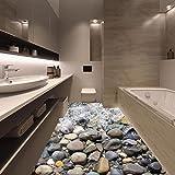 adesivi,Yummilan Pavimento 3D Pvc Adesivo Murale Realistico Stampa Della Pietra Della Strada Per Bagno