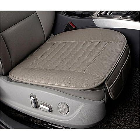 Nibesser 2er Set PU Leder Auto Sitzauflagen Bambus Holzkohle Breathable