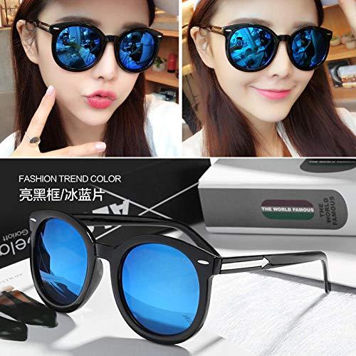 Neue Saison neue College-Studenten Sonnenbrillen weibliche Flut Sterne Modelle neue runde Farbe Sonnenbrille Damen rundes Gesicht Augen transparent weiß / Quecksilbertabletten frei Spiegel Tuch Spieg