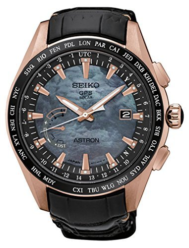 Herren Seiko Astron GPS Solar World Time Rose Gold Titan Limited Edition sse105 Novak Djokovic Limited Edition