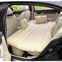 Matériau écologique Lit de coussin d'air, fournitures de voiture Beige de matelas de repos de voyage de matelas de voiture