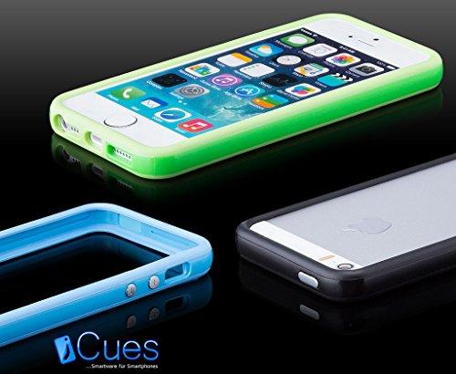 Apple iPhone SE / 5S / 5 | iCues Pare-chocs avec des boutons en aluminium jaune | [protecteur d'écran, y compris] cas Frame cas de couverture Coque Housse Sac Étui Case Cover orange