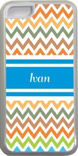 Ivan Chevron Bleu Nom Design Iphone 5C Coque (Transparent) avec protection pare-chocs en caoutchouc pour Apple iPhone 5C Étui vendre sur zeng