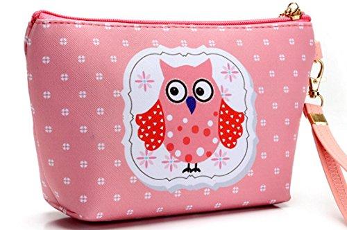 HOYOFO Eule Make Up Tasche wasserdicht Kosmetik Tasche für Travel Wash Tasche mit Griff für Frauen