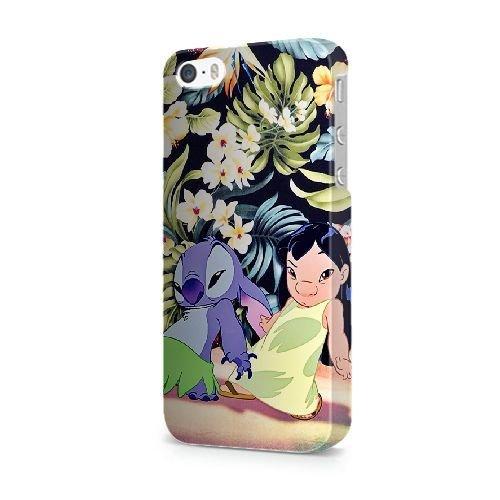 COUTUM iPhone 5/5s/SE Coque [GJJFHAGJ73707][LILO AND STITCH THÈME] Plastique dur Snap-On 3D Coque pour iPhone 5/5s/SE LILO AND STITCH - 010