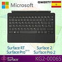 Microsoft Surface RT / Pro (2012) / 2 / Pro 2 Tipo Funda Teclado QWERTY Español con Teclas Retroiluminadas - Negro - Caja OEM (sin paquete al por menor)
