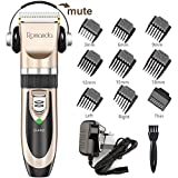 Hair Clippers, Romanda Low Noise Clippers for Men Cordless Hair Trimmer Rechargeable Electric