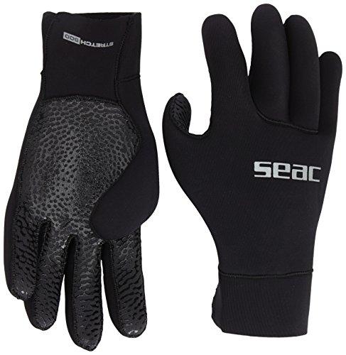Seac Guantes STRETCH 500 - Guantes de buceo, color negro, tamaño L