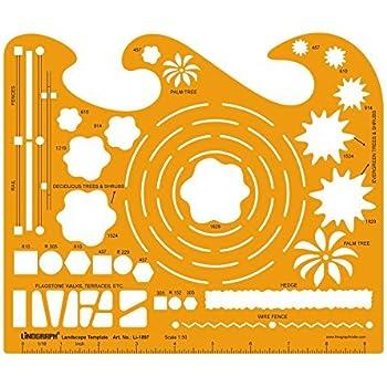 1:50 Scale Landscape Design Stencil Architectural Planning ...