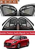 #5: AUTOFACT Magnetic Window Sun Shades for Maruti Suzuki Swift 2018 New Model -Set of 4 - With Zipper