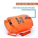 Swim Secure Sac de Natation de flottaison Gonflable, bouée de natation pour Les Nageurs en Eau Libre 28 Liters