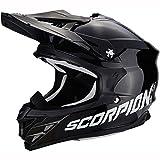 Scorpion 35-100-03-L Vx-15 Evo Air Solid Erwachsener Motorradhelm Schwarz, Größe Groß