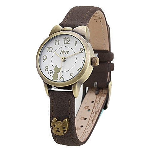 fq-234-brown-leather-strap-bowknot-kitty-design-students-girls-woman-quartz-wrist-watches