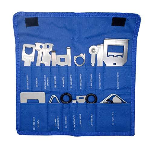 shorecofei 38 Teile/Satz Fahrzeug Auto Stereo Radio Release Removal Tools Key Kit mit Tasche Kenwood Tool Fit für Benz Ford Audi