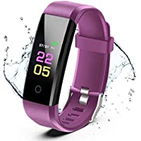 Fitness Trackers- Activity Tracker Watch with Heart Rate Blood Pressure Monitor, Waterproof Watch with Sleep Monitor…