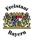 Schild - FREISTAAT BAYERN - Gr. ca. 25x29 cm - 301441