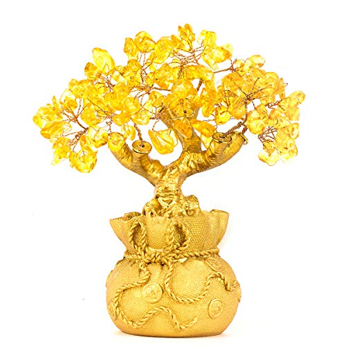 BWINKA Feng Shui Multi Color Natural Stone Stone Money Tree Office Table Feng Shui Decoration Crystal Money Tree