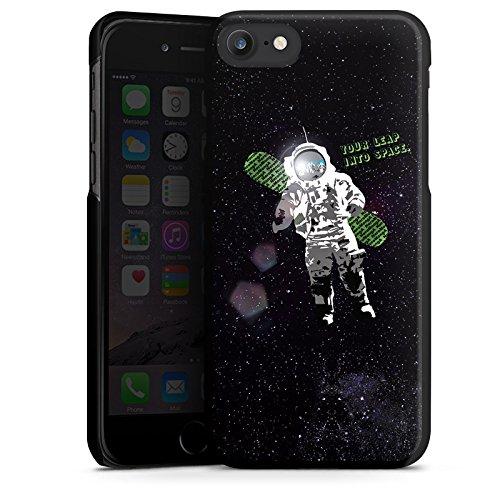 Apple iPhone X Silikon Hülle Case Schutzhülle Astronaut Weltall Fliegen Hard Case schwarz