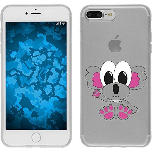 PhoneNatic Case für Apple iPhone 8 Plus Silikon-Hülle Cutiemals M6 Case iPhone 8 Plus Tasche + 2 Schutzfolien Design:06