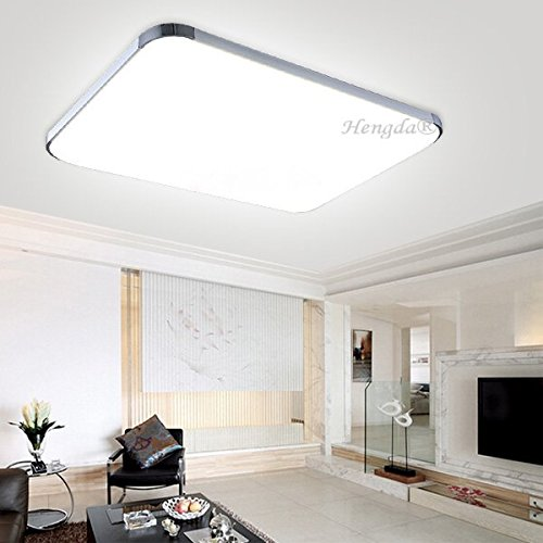 HENGDA 48W LED 230v kaltweiß Wand- Deckenleuchte 6500k Energiespar Deckenlampe Badlampe Flur Lampe Deckenleuchte
