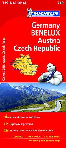 Germany, Benelux, Austria, Czech Republic - Michelin National Map 719
