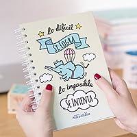 La mente es maravillosa-Cuaderno A5-Regalo para amiga con dibujos-CERDIFANTE-ESP