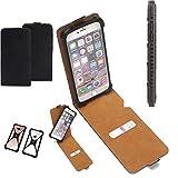 K-S-Trade Flipstyle Case für Cyrus CS 35 Schutzhülle Handy Schutz Hülle Tasche Handytasche Handyhülle + integrierter Bumper Kameraschutz, schwarz (1x)