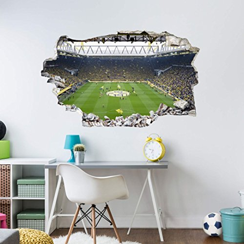 Wandsticker, Wandtattoo, Aufkleber, Poster selbstklebend - 3D Wandtattoo BVB Fan Choreo - BVB-AL-1029 - Bogengröße 70x50 cm (Fußball-fan-decke)