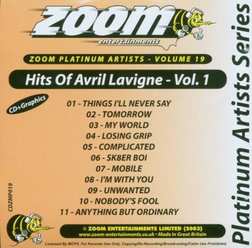Zoom Karaoke CD+G - Platinum Artists 19: Avril Lavigne 1 By Avril Lavigne (2006-10-02)