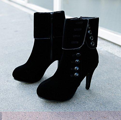 Svart À Hæler Røde Boots Jazs® Résistant 4 Taille Sexy Style Rouge xwqXzdIq
