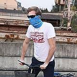 iRegro máscara facial y cuello máscara facial respirante, a prueba de polvo resistente al viento motocicleta bicicleta máscara facial para ciclismo, senderismo, camping, escalada, pesca, caza, motociclismo (Azul)