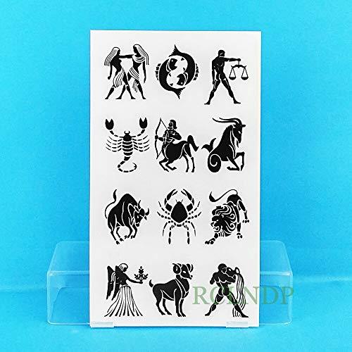 emporäre Tätowierung Aufkleber Fisch Pferd Spinne Vieh Tatto Tatoo Tatouage Hand Zurück Fuß für Mädchen Frauen ()