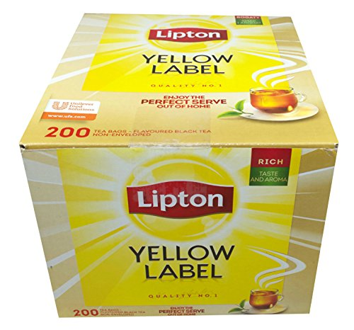 200 Teebeutel Lipton Yellow Label Tea Quality No. 1 (2 x 100) Forest Green Gläser