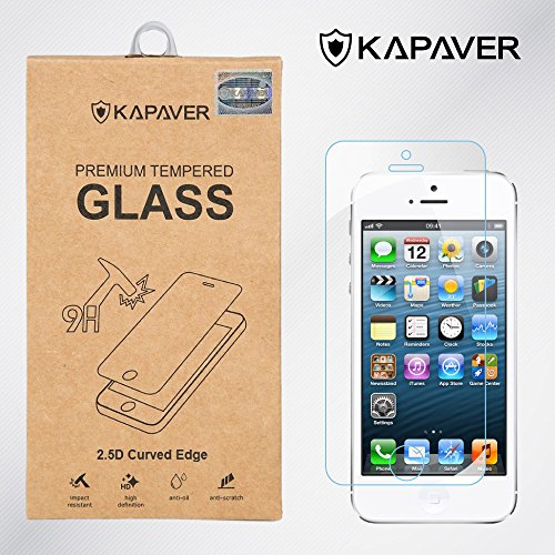Kapaver 2.5D Curved Edge 9H Hardness Premium Tempered Glass For Apple iPhone 5/5S