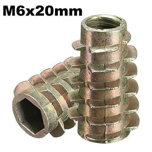 ChaRLes 5Pcs tornillo de la impulsión del maleficio M6x20mm en el parte...
